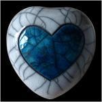Coeur blanc et bleu 1