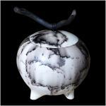 Urne funeraire moyenne sphere crin de cheval1