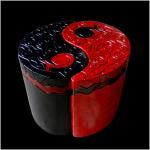 Y et y rouge et noir resine2